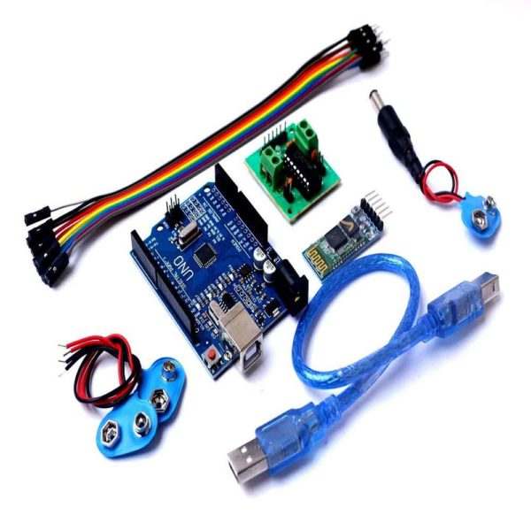 SR ROBOTICS Voice Control Robot Kit With Arduino Uno Bluetooth Hc05 Module  And Motor Driver With Jumper Wire